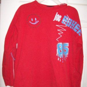 Red Long Sleeve Shirt Box Size Medium 10 12